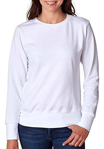Anvil Ladies French Terry Crewneck Sweatshirt. 72000L White 2XL (Anvil Jewelry)