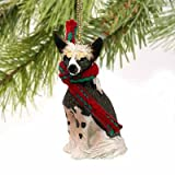 1 X Chinese Crested Miniature Dog Ornament