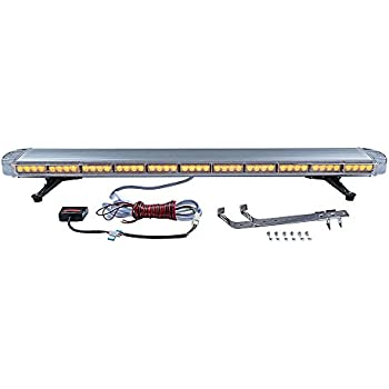 Completed Set Emergency Warning Car Tow Truck Plow Response Strobe Light Bar (51 Inch 96-LED, Amber)