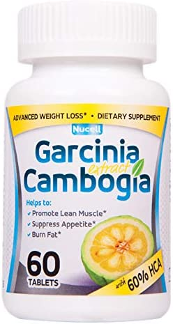 Garcinia Cambogia 1 Weight Loss Supplement 1,600mg Day, 60 HCA 60 Vegetarian Tablets, Dr Burn Fat, Control Appetite, Lose Weight, Fast and Effective
