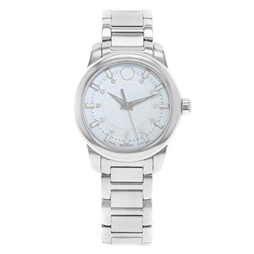 Movado Diamond White Dial Stainless Steel Ladies Watch 0606943