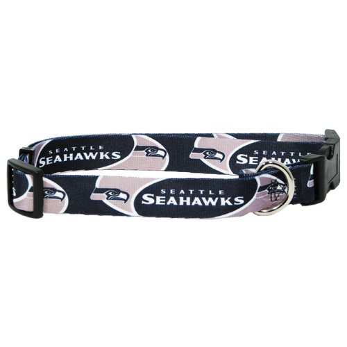Hunter MFG Seattle Seahawks Dog Collar, Medium