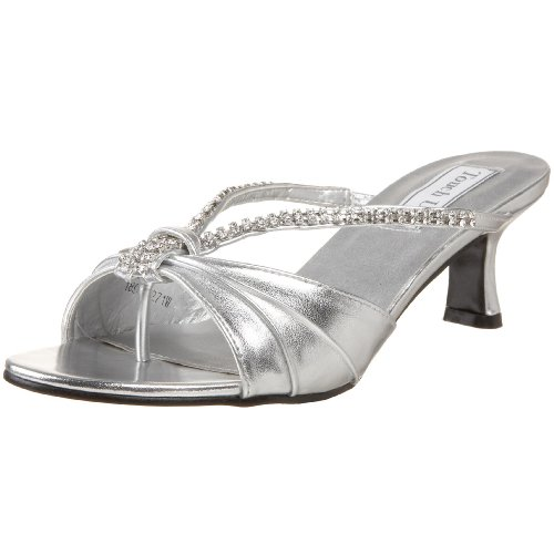 Touch Ups Women's Phoebe Slide Sandal,Silver,5 M (Touch Ups Mid Heel Sandals)