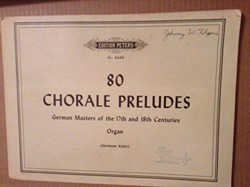80 chorale preludes - 1