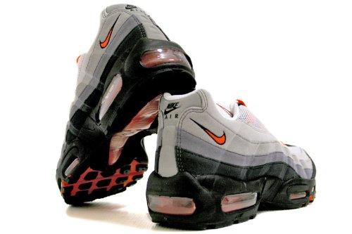 Nike Air Max 95 No Sew Herren Laufschuhe Weiß / Team Orange-natürlich Grau-mittelgrau