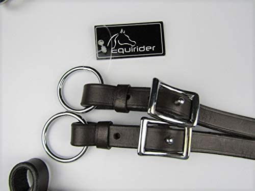A/&S EQUESTRIAN QUALITY LEATHER 3 POINT BREASTPLATE ELASTICATED BLACK OR HAVANA BROWN Shetland//S.Pony, Black