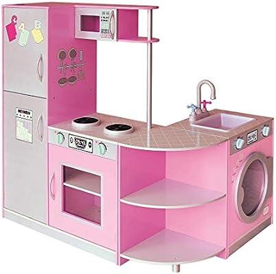 Yar Wooden Kitchen Cook Set Toy Kids Play Pretend Kitchen Cook
