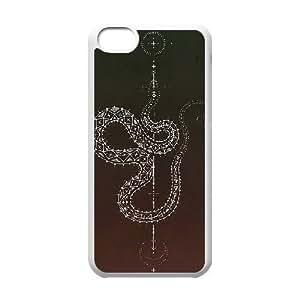 snake pattern iPhone 5C Case White
