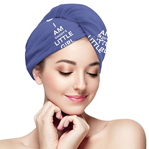 Lovecaifu Daddys Little Girl Microfiber(100%) Hair Towel Wraps,Quick Dry Hair Wrap Towels,Super Absorbent, Fast Drying & Don't Falls Off