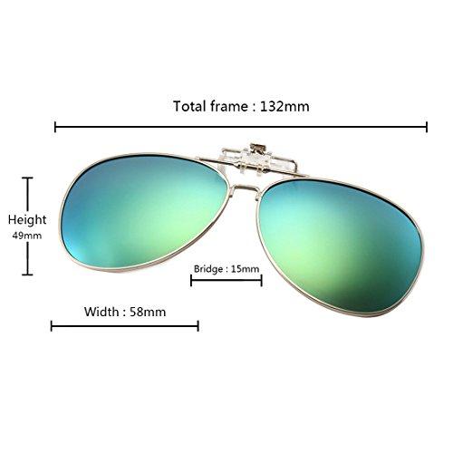 sol aire gafas polarizadas para de libre Gafas sol deportes en Verde Claro abatibles al MUCHAO de waESqEA