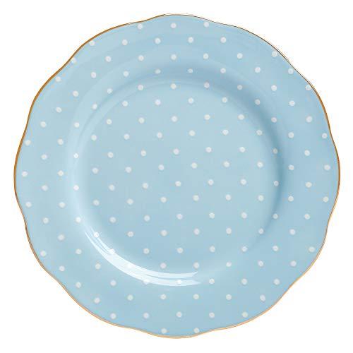 Royal Albert Formal Vintage Salad Plate, Polka Blue