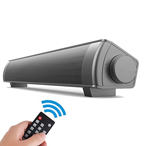 EWEMOSI Bluetooth Sound Bar - Wireless Speaker Audio Stereo System - Built in MIC Strong Bass - Home Theater Soundbar for Smartphones Computer Tablet Outdoor