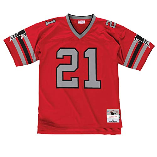 20 Premier Throwback Jersey - Mitchell & Ness Deion Sanders Atlanta Falcons Red Throwback Jersey (XX-Large)