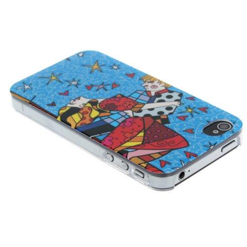 NouveautŽ Žtrange peinture Colorful Case Dancers pour l'iPhone 4 4S
