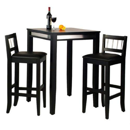 Manhattan Black Pub Table & Stools Set by Home Styles