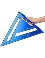 Linjal träbearbetning 7 tum 30 cm metrisk vinkel linjal aluminiumlegering triangulär mätning linjal träarbete hastighet kvadrat triangel vinkel gradskiva mått mått och layoutverktyg