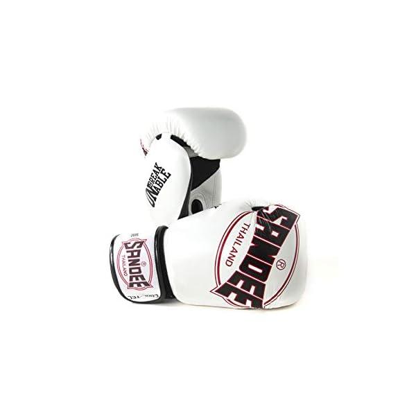 Sandee-Cool-Tec-Boxing-Gloves-White-Black-Red-Muay-Thai-Kickboxing-Training