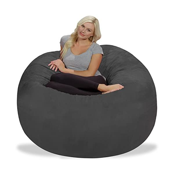 Fantastic Chill Sack Bean Bag Chair Giant 5 Memory Foam Furniture Bean Bag Big Sofa With Soft Micro Fiber Cover Charcoal Camellatalisay Diy Chair Ideas Camellatalisaycom