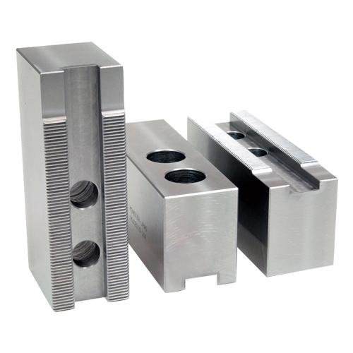 PH Part#: 8200AF Ð Aluminum Soft Jaws for 8'' Chuck - 1/16''x90 - (4.375 L x 1.500 W x 2.000 H) Groove Width: 0.669 (17mm)/Screw Size: 1/2/Hole Space: 0.875 (22mm)/Hole to Front: 2.125