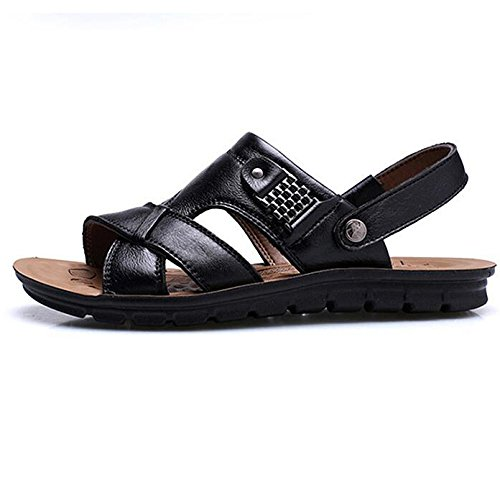 Comfort Sandali Indossabile Uomo Black Casual Summer Toe Outdoor da Antiscivolo Sandali Sports Open rAIwqrY