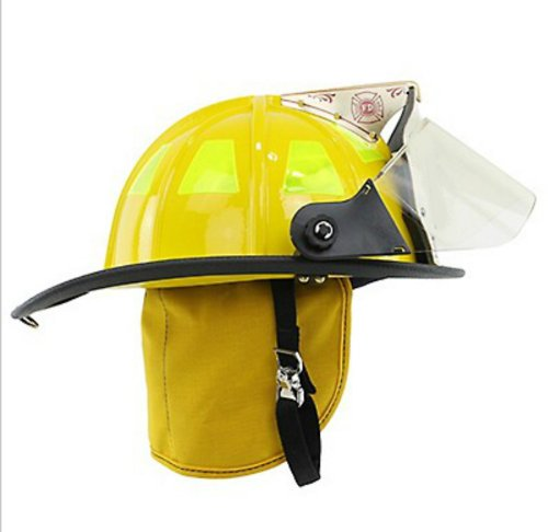 Cairns 1010FSY Traditional Composite Fire Helmet, Yellow, Standard (Traditional Fire Helmet)