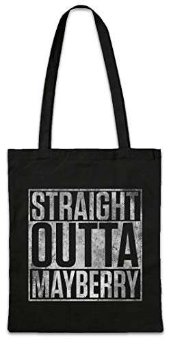 Straight Outta MayberryReusable Hipster Shopper Shopping Cotton Bag