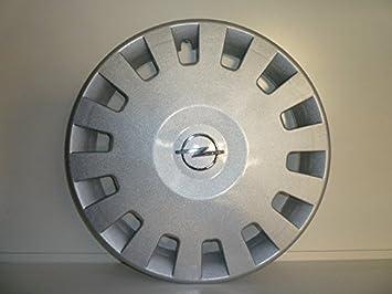 Juego de Tapacubos 4 Tapacubos Diseño de Vauxhall Corsa Confort r 14 () Logo Cromado: Amazon.es: Coche y moto