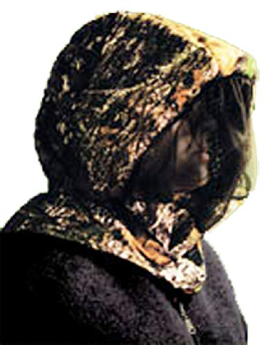 Shannon Outdoors Men's 3-D Big Leaf Bug Tamer Plus Headnet with Face Shield, Camo, Large/X-Large