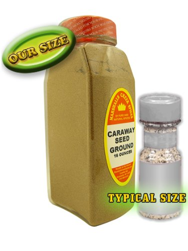 XL Size Marshalls Creek Spices Caraway Seed Ground Seasoning, 16 Ounce