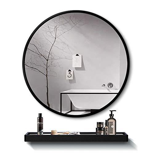 JWZQ Bathroom Wall Mirror, Vanity Mirror, Wrought Iron Round Mirror, 4mm HD -
