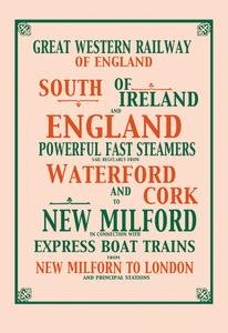 Great Western Railway Paper poster printed on 12 x 18 stock.