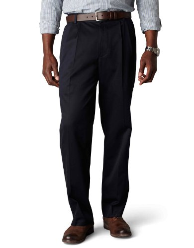 NWT MENS DOCKERS D3 CLASSIC FIT SIGNATURE KHAKI PLEATED FRONT 40849-0007 NAVY