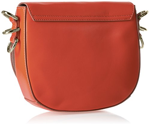 Tommy Hilfiger Th Twist Leather Medium Crossover - Bolsos bandolera Mujer Rojo (Fiery Red)