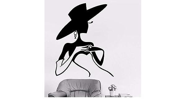 Zaosan Modelo de Moda Sombrero de Vinilo Pegatinas de Pared ...
