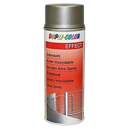 Duplicolor 516238 Pintura para Acero Inoxidable y anodizados, 400 ml, Gris
