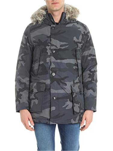 Grey Giubbotto Wocps2679 Camou Uomo Arctic Woolrich Parka Camo 748qwUx