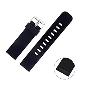 ZOLUIKIS Smart Watch Colored Band for Y7, Silicone Rubber Watch Strap 22 cm. 4 Colors for Quick Release Watch Strap with Stainless Steel Buckle ...
