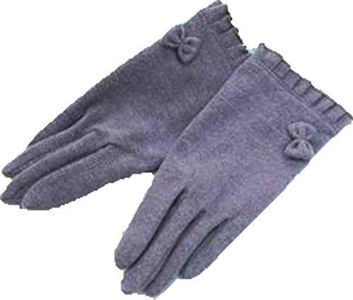 理解する事務所水星フリルリボン付き手袋 グレーLサイズ(11~16歳)ジョリコムアンクール製 スマートフォン、タッチパネル対応クリスマス プレゼント 入園 入学