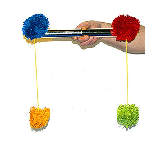 blue-ther Pom Pom Stick Stage Magic Tricks Magician Close Up Magic Accessories Illusions Props Gimmick Mentalism Classic Toy Funny Magic Wand