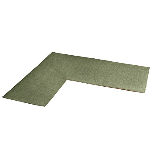 Shaped Berber Corner Runner Sage
