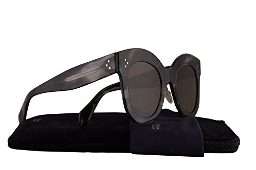 Celine CL41443/S Sunglasses Havana Grey w/Brown Lens 50mm 0GQQS CL41443S CL - Celine Aviators Square