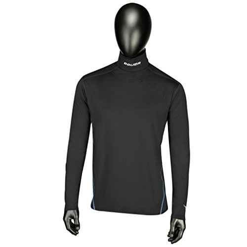 Bauer Youth NG Core Integrated Neck Long Sleeve Top, Black, X-Large