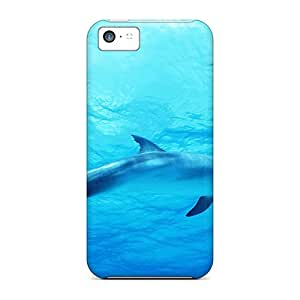 Premium Tpu Dolphin In Deep Blue Sea Cover Skin For Iphone 5c