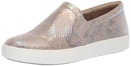 (Naturalizer Women's Marianne Sneaker, Silver Snake, 8.5 W US)