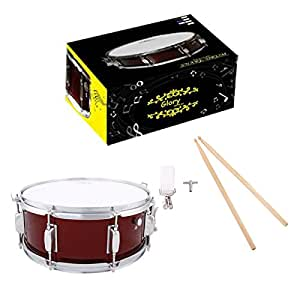 glory snare drum with sticks and strap for beginners and students red color. Black Bedroom Furniture Sets. Home Design Ideas