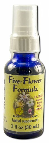 Flower Essence Services Healing Herbs Five-Flower Formula Spray, 1 Ounce