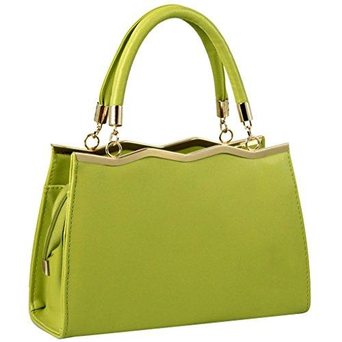 Mode À Shopping D'Épaule Sac Sac Minetom Cuir De A Main Vert Bonbons Filles Sac Bandoulière Pour Cabas Sac Femme Couleur PU HnxPa0qx