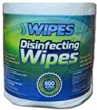 Wipes.com Disinfectant Wipes (800 Count, 10 Cases of 4 Rolls) 8x6