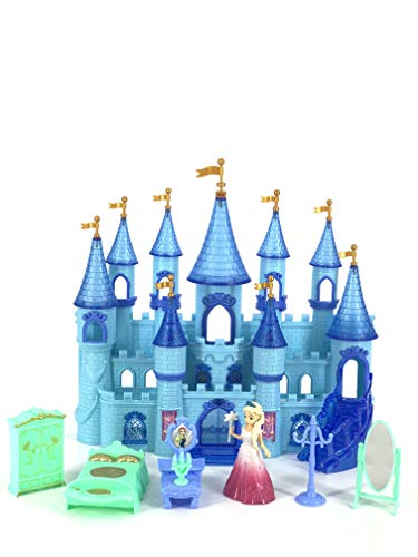 INCHOI My Dream My Beauty Battery Operated Toy Castle Dollhouse w/ Light up Effects, Music, Doll Princess Figure, Furniture, & Accessories (The Dream Castle)