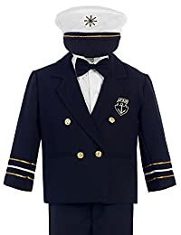 Bello Giovane Baby Toddler Boys Nautical Sailor Outfit Suit 5 Piece Set
